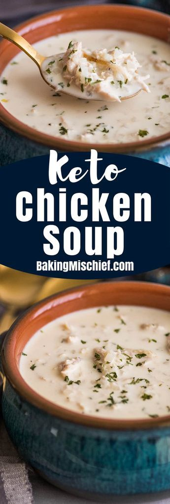 Keto Chicken Soup for Two