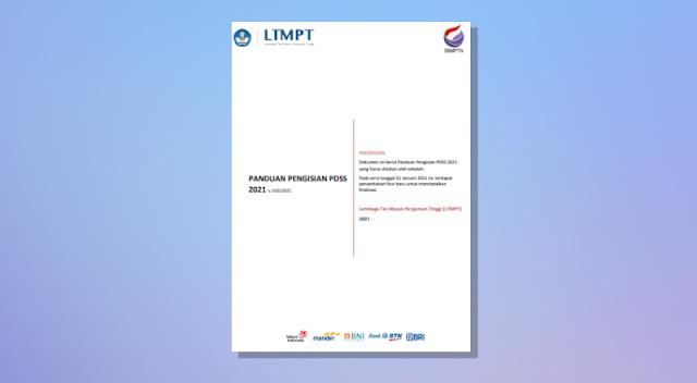 Panduan Pengisian PDSS Tahun 2021 Versi Revisi Terbaru