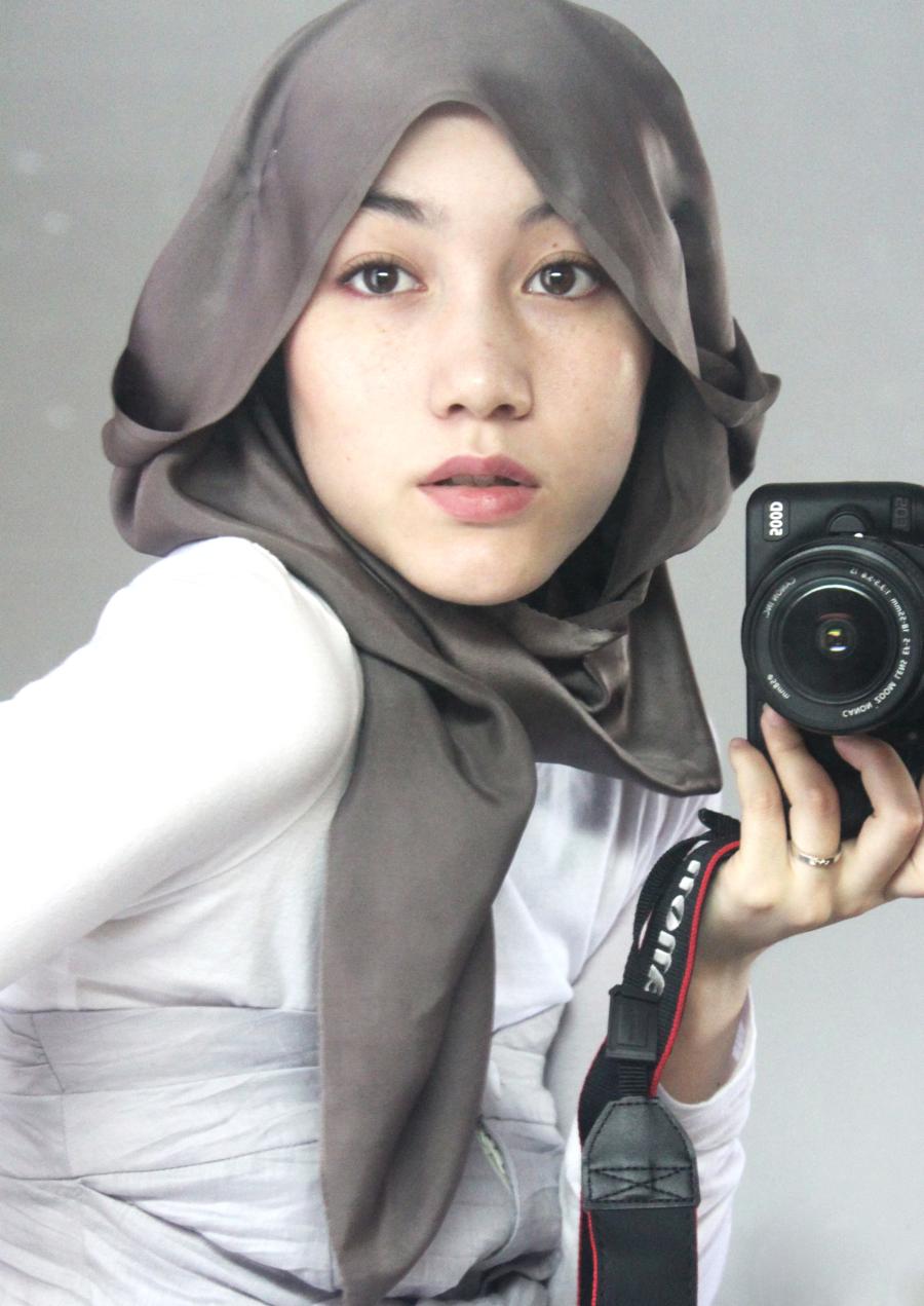 Hana Tajima Hijab for round face