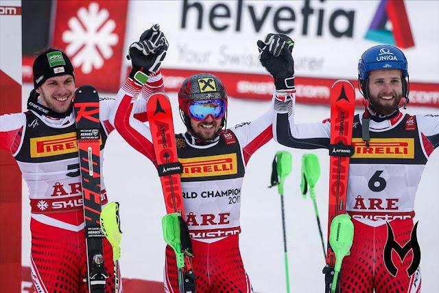 Marcel Hirscher Takes Victory on an Austrian Podium