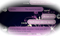 Screenshot of text between Josh and Vicky where he says he loves her and told his daughter that he wants to marry her.