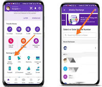 How to recharge mobile via Phonepe app?