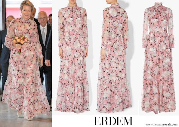 Queen Mathilde wore Erdem Clementine Gown Apsley Pink