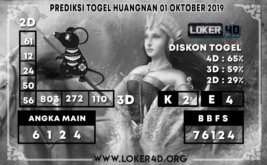PREDIKSI TOGEL HUANGNAN LOKER4D 01 OKTOBER 2019