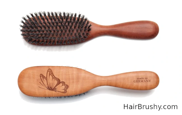 Pure Calcutta Wild Boar Bristle Hair Brush, Butterfly Boar Brush