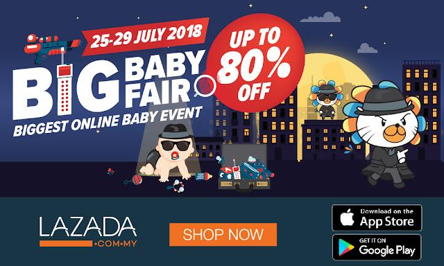 Lazada Big Baby Fair 2018 Datang Lagi Dengan Diskaun Sehingga 80%