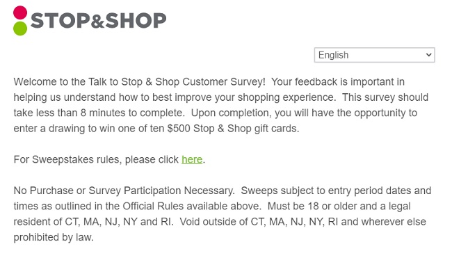 stop and shop customer service