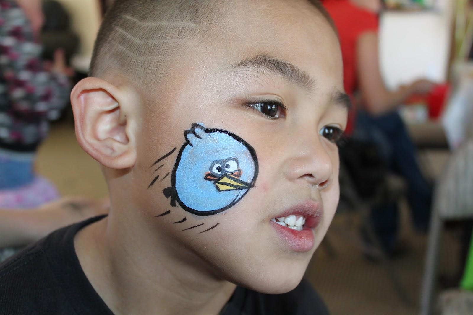 Lulu-Pop Face Painting: Angry Birds