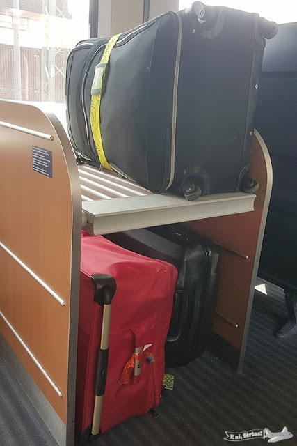 Maleiro no trem europeu