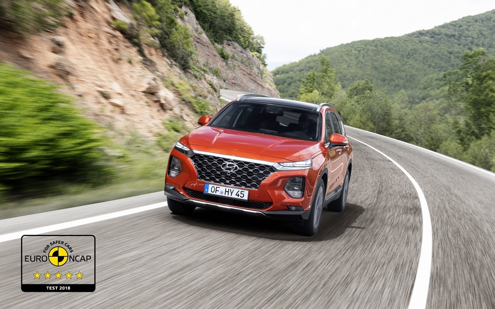 2019 Hyundai SantaFe achieves 5-star Euro NCAP rating