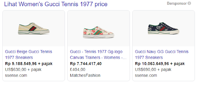 Women's Gucci Tennis 1977