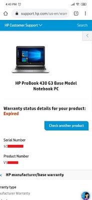 Cara Mengecek Status Garansi Perangkat HP (Hewlett Packard) melalui Smartphone