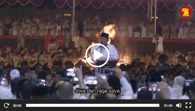 Video Prabowo Siap Maju Sebagai Calon Presiden