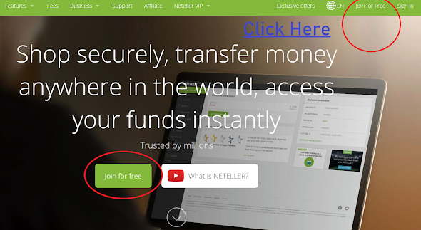 Neteller main page