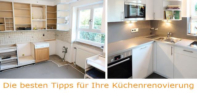 Küche renovieren - aus alt mach neu - eine 30 Jahre alte Küche erstrahlt wieder in neuem Glanz