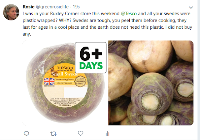 Tweeting against plastic wrapped swedes
