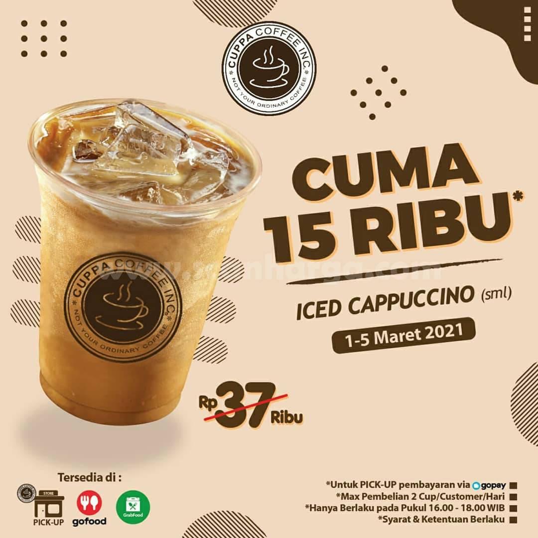 Cuppa Coffee Promo Iced Cappuccino harga hanya Rp 15.000