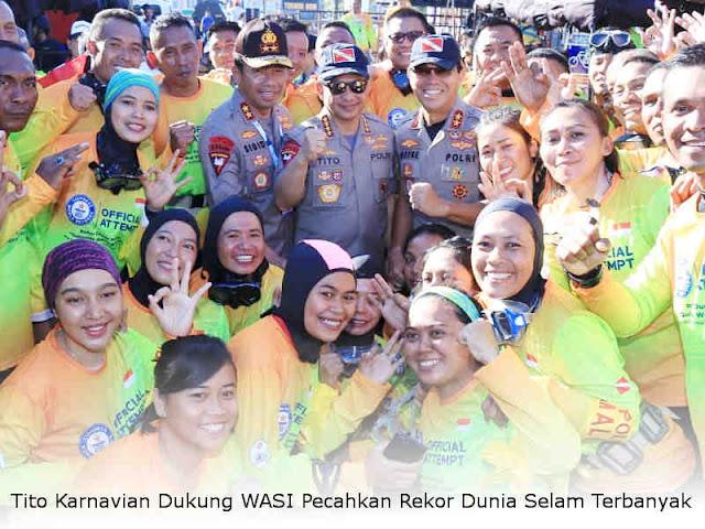 Tito Karnavian Dukung WASI Pecahkan Rekor Dunia Selam Terbanyak