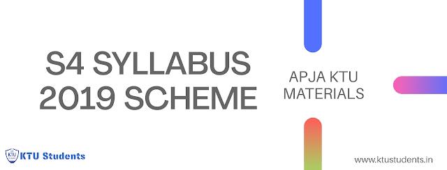Ktu s4 2020 updated syllabus for 2019 scheme engineering students