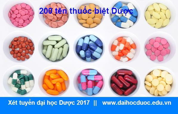 200 loại thuốc biệt Dược