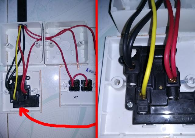 Memasang stop kontak instalasi listrik