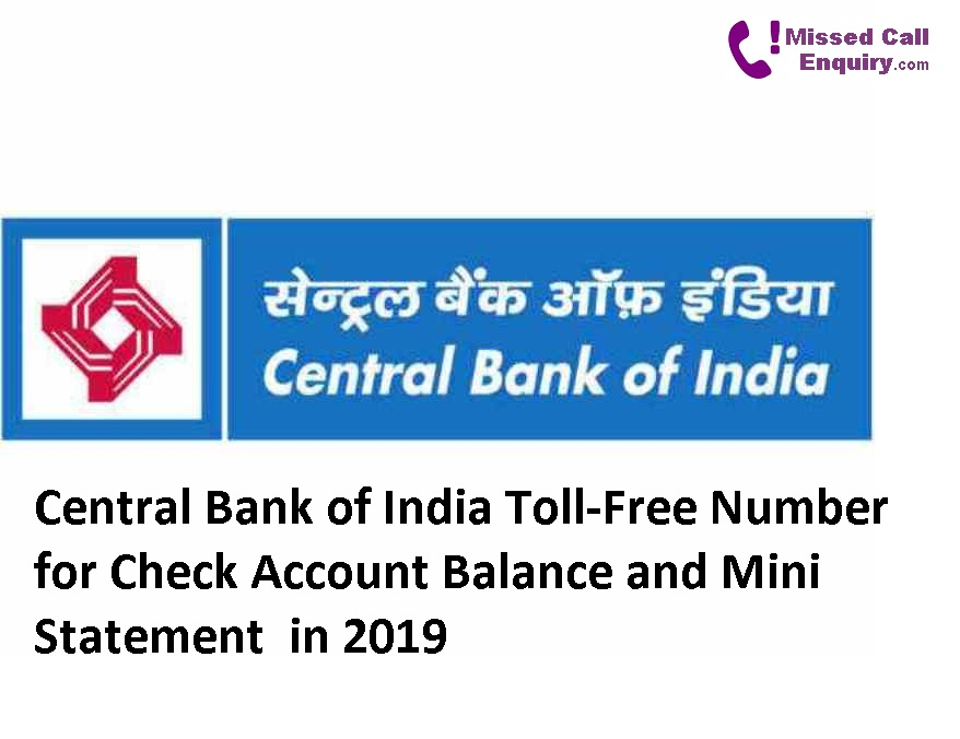 Central Bank of India Missed Call Number for Account Balance