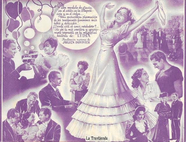 Lydia - Programa de Mano - Merle Oberon - Joseph Cotten - Alan Marshal