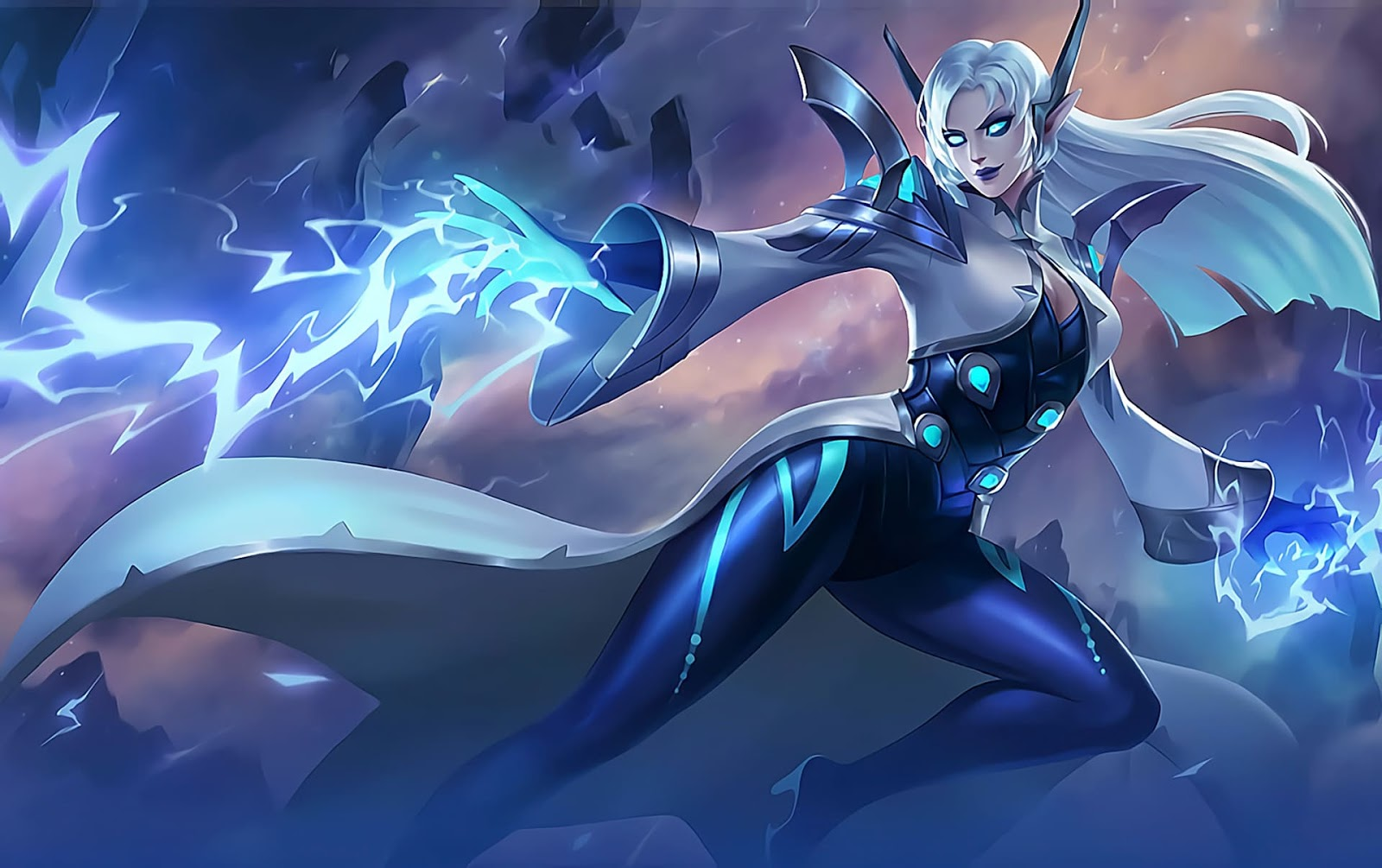 Wallpaper Eudora Lightning Sorceress Skins Mobile Legends HD for PC