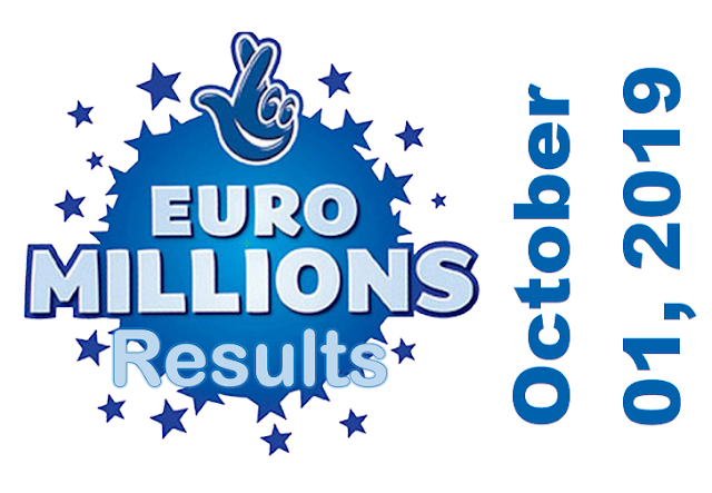 EuroMillions Results for Tuesday, October 01, 2019