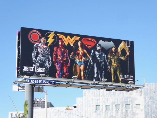 Justice League film billboard