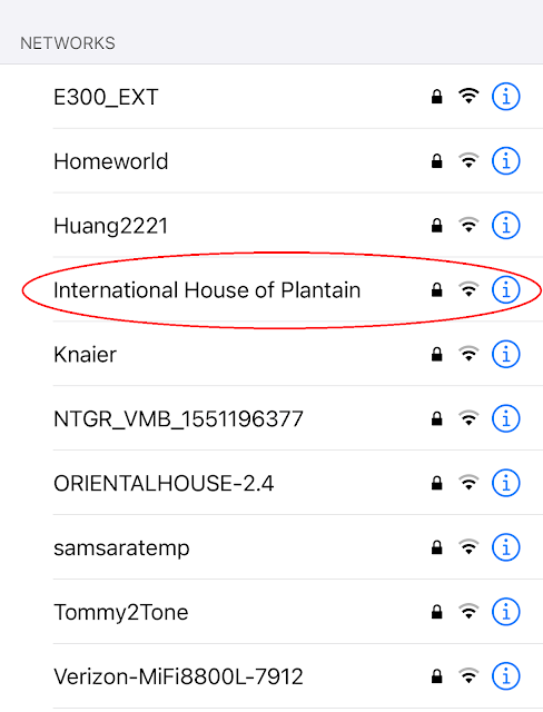 Network name: International House of Plantain