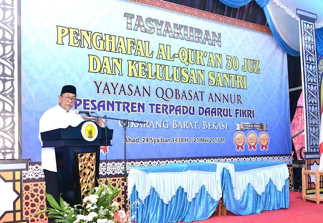 Deddy Mizwar Komitmen Perhatikan Pendidikan Hafidz Quran