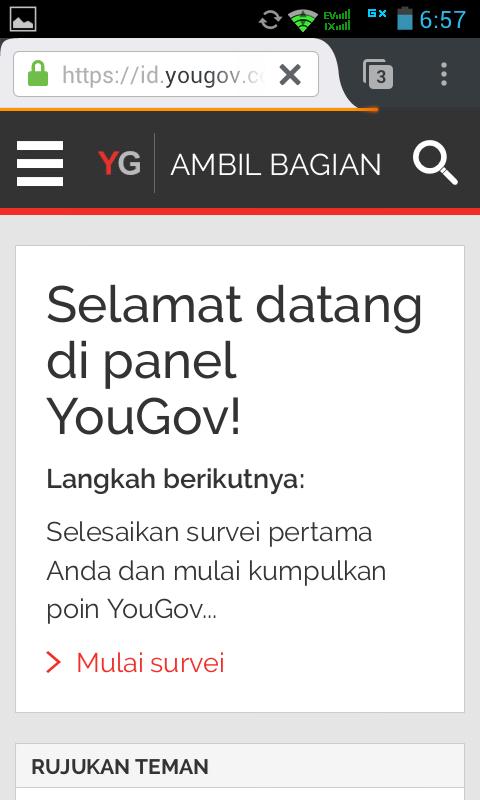 Cara Daftar Yougov Di Hp