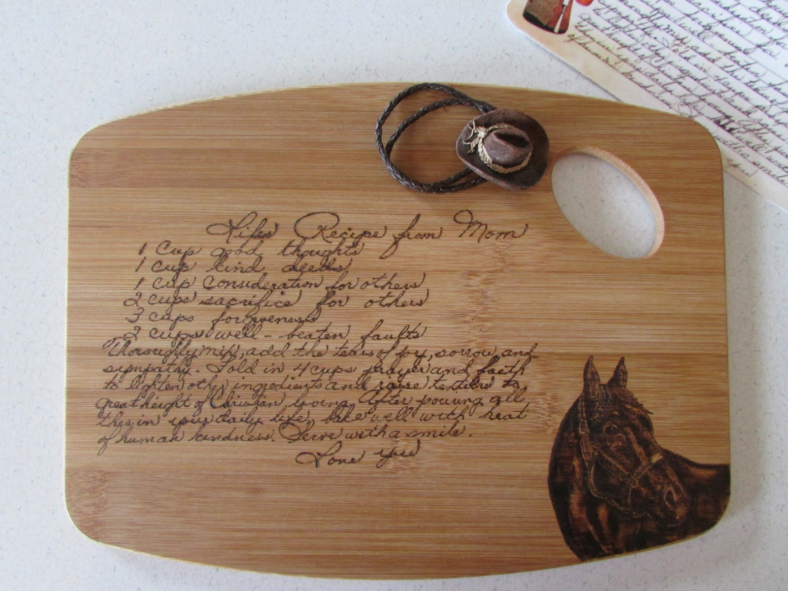 A Few Of My Favorite Things Diy Cutting Board With Mom S Recipe