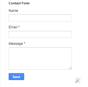 How to add a contact form widget to blogger