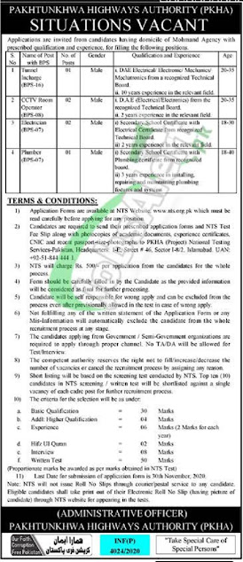 pakhtunkhwa-highways-authority-pkha-jobs-2020-latest-advertisement