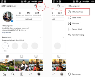 fitur your activity instagram