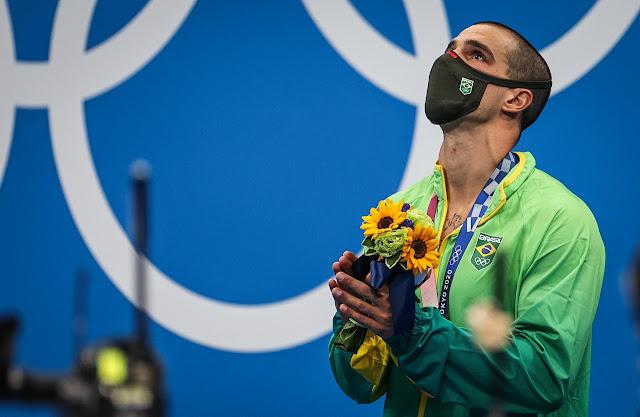 Bruno Fratus pódio bronze jogos olímpicos