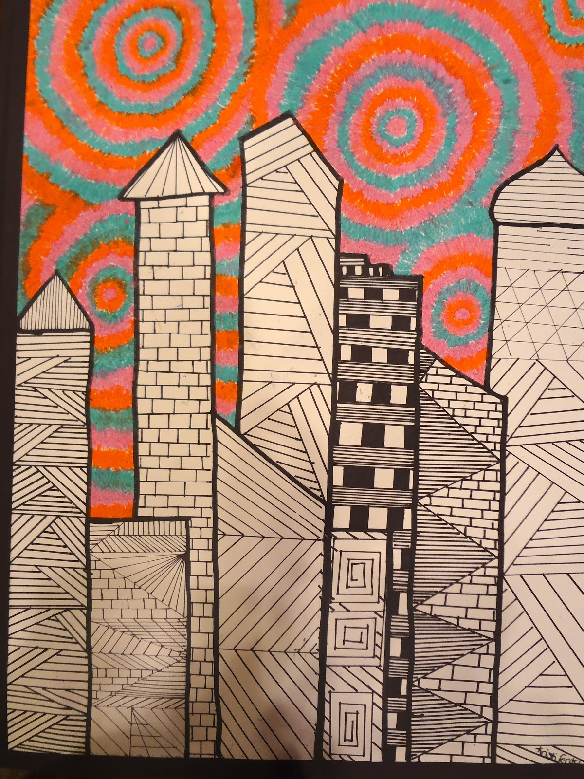 Sharpies Paint And Paper Oh My 8th Grade Art