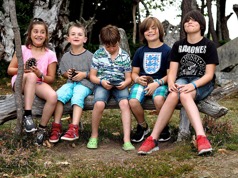children on a french family holiday