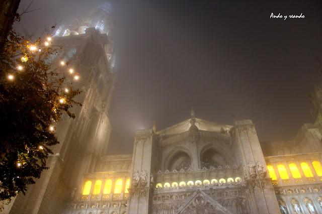 Catedral de Toledo iluminada