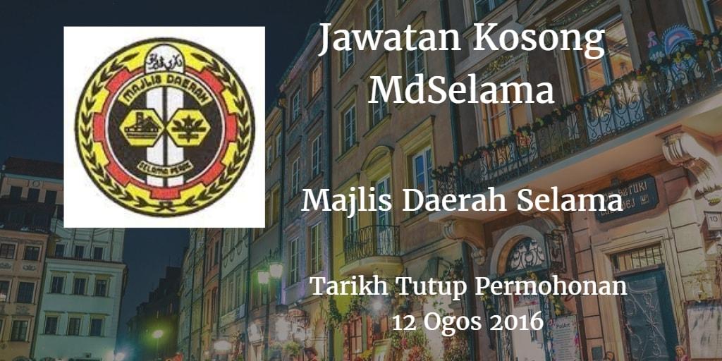 Jawatan Kosong MDSelama 12 Ogos 2016