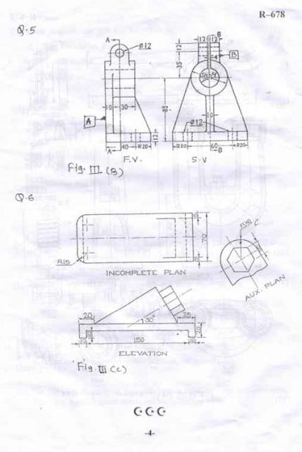 SU 42663 Machine Drawing Dec 2014 Question Paper