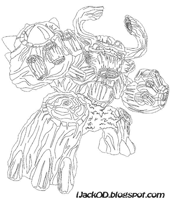 skylander giants coloring pages bouncer - photo#23