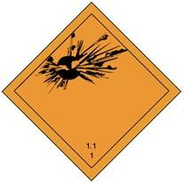 hazmat division 1.1 placard