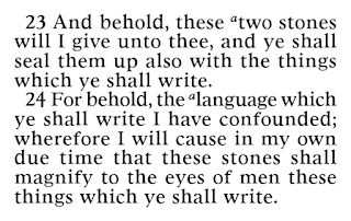 Book of Mormon Ether 3:23-24