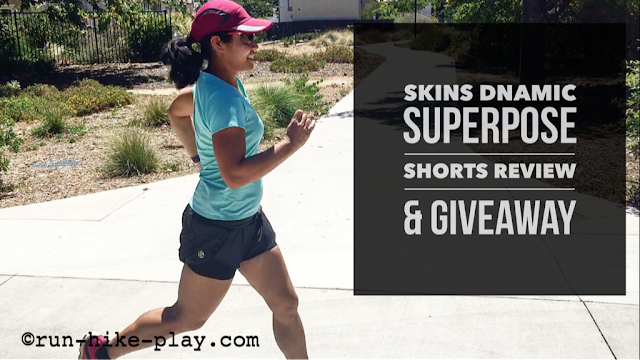 SKINS DNAmic Women's Superpose Compression Shorts Review & Giveaway