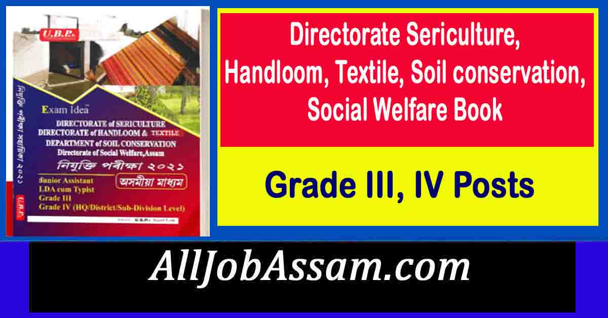 Directorate Sericulture, Handloom, Textile, Soil conservation, Social Welfare Book