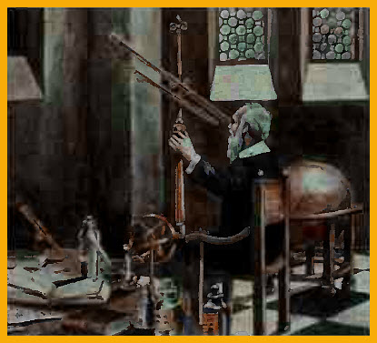 Pict Astronomy: 16th-century scientist Galileo Galilei improved the telescope for consequent astronomical observations.