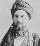Federico Peliti, pictured in traditional Indian headdress
